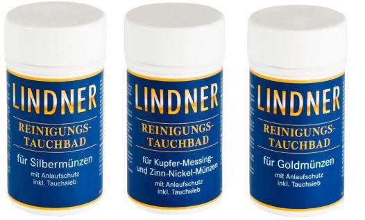 LINDNER 8091 GOLD Münzbad Tauchbad Reinigungsbad Pflegebad 375 ml Reinigung für Münzen & Schmuck - Vorschau 3