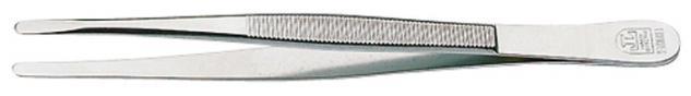 1 x LINDNER 2080 Pinzetten Briefmarkenpinzetten mit fein geschliffenen abgerundeten Spitzen - 120 mm lang im Plastiketui