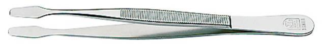 1 x LINDNER 2012 Pinzetten Briefmarkenpinzetten mit fein geschliffenen geraden Schaufeln - 120 mm lang im Plastiketui