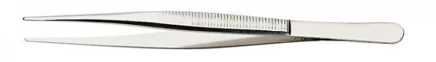 1 x LINDNER 2031 Pinzetten Briefmarkenpinzetten mit fein geschliffenen geraden Spitzen - 120 mm lang