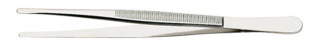 1 x LINDNER 2032 Pinzetten Briefmarkenpinzetten mit fein geschliffenen geraden Löffeln - 120 mm lang