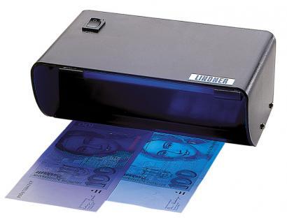 LINDNER 7083 UV Prüfer Prüfgerät Standgerät Lampe 4W / 365 nm Briefmarken Geldscheine Banknoten Papiergeld