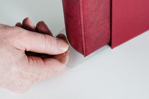 1 x LINDNER 798 Kasetten - Griffschiene Kassetten-Griffschiene für Ringbinder Album Banknoten Briefmarken