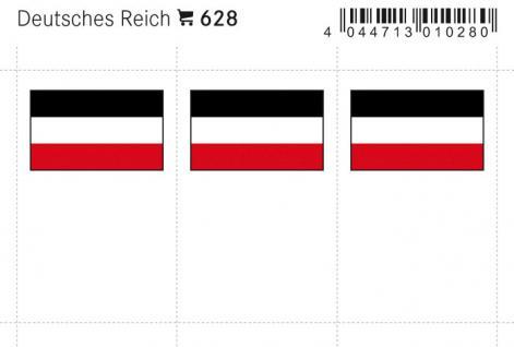 6 x LINDNER 628 Deutsches Reich Flaggensticker Flaggen Signetten Sets zum aufkleben oder einstecken