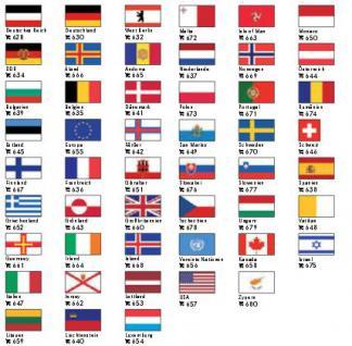 6 x LINDNER Flaggensticker Flaggen Signetten Sets zum aufkleben oder einstecken von Andorra bis Zypern FREIE AUSWAHL - Vorschau