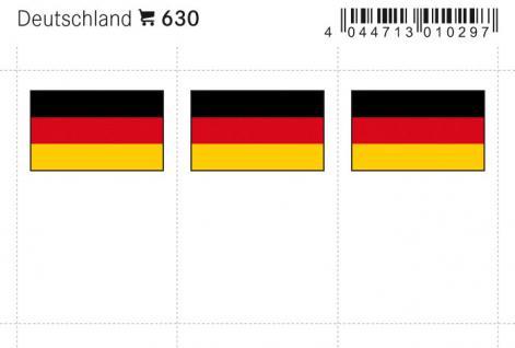 6 x LINDNER 630 Deutschland Flaggensticker Flaggen Signetten Sets zum aufkleben oder einstecken