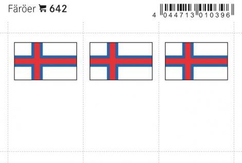 6 x LINDNER 642 Färoer Faerör Flaggensticker Flaggen Signetten Sets zum aufkleben oder einstecken - Vorschau 1