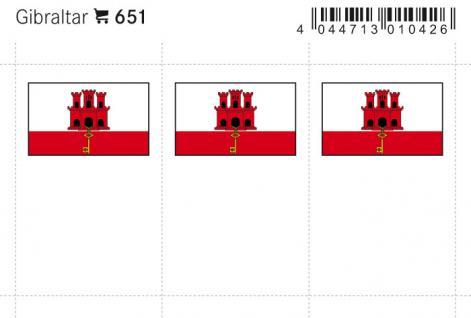 6 x LINDNER 651 Gibraltar Flaggensticker Flaggen Signetten Sets zum aufkleben oder einstecken - Vorschau 1