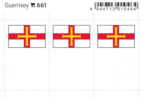 6 x LINDNER 661 Guernsey Flaggensticker Flaggen Signetten Sets zum aufkleben oder einstecken - Vorschau 1