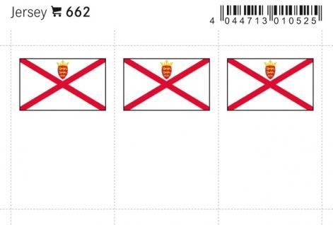 6 x LINDNER 662 Jersey Kanalinseln Flaggensticker Flaggen Signetten Sets zum aufkleben oder einstecken