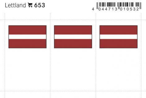 6 x LINDNER 653 Lettland Flaggensticker Flaggen Signetten Sets zum aufkleben oder einstecken - Vorschau 1