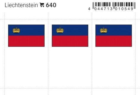 6 x LINDNER 640 Liechtenstein Flaggensticker Flaggen Signetten Sets zum aufkleben oder einstecken