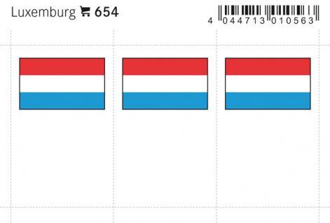 6 x LINDNER 654 Luxemburg Flaggensticker Flaggen Signetten Sets zum aufkleben oder einstecken - Vorschau 1