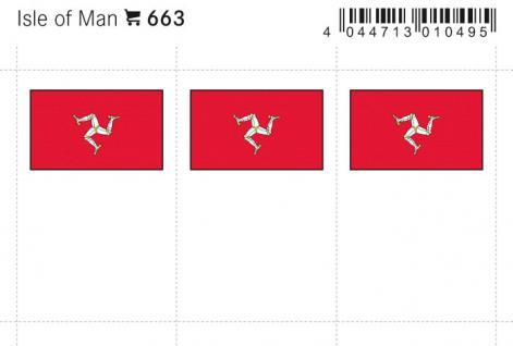 6 x LINDNER 663 Isle of Man Flaggensticker Flaggen Signetten Sets zum aufkleben oder einstecken - Vorschau 1