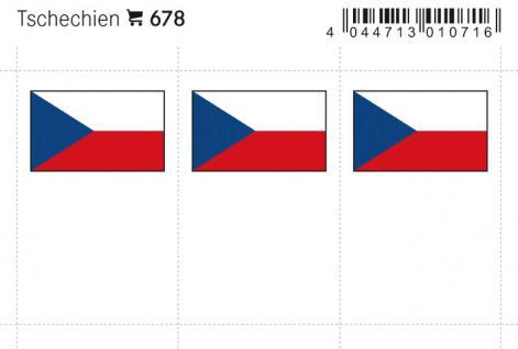 6 x LINDNER 678 Tschechien Flaggensticker Flaggen Signetten Sets zum aufkleben oder einstecken