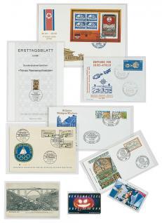 50 x LINDNER 891P Schutzhüllen Hüllen Banknotenhüllen 238 x 168 mm Ideal für Briefe - Kleinbogen Banknoten - Vorschau 2