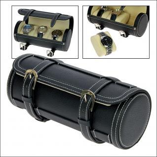 SAFE 256 Reiseetui Uhren - Etui Reisebox für Armbanduhren - Uhrenetui Box Uhrenbox für 3 Uhren Ideal für Damenuhren Herrenuhren