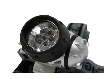 Grundig Stirnlampe 7 x LED Kopflampe Kopfleuchte 3 Funktionen 1 LED - 3 LED - 7 LED - Angeln Fahrrad Camping Klettern Werkstatt - Vorschau 3