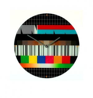 RETRO TESTBILD WANDUHR - Der Klassiker aus dem TV Fernsehen Vintage Design der 50 - 60 - 70 - 80 er Jahre
