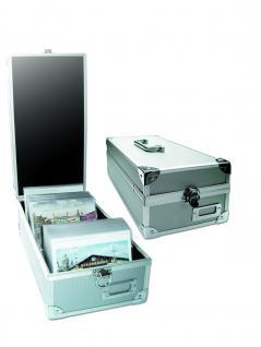 SAFE 160 ALU Sammelkoffer Koffer mit Griff für bis zu 600 Postkarten / Ansichtskarten