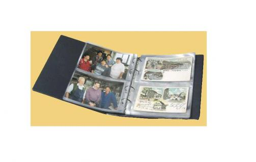 KOBRA PK3 Blau Postkartenalbum Album für Geldscheine Banknoten Postkarten Ansichtskarten 40 Blatt = 160 St. - Vorschau