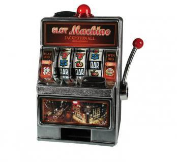 Elektrische Spardose Spartopf Sparbüchse Geldtresor Casino Slot Machine Einarmiger Bandit Spielautomat Glücksspielautomat