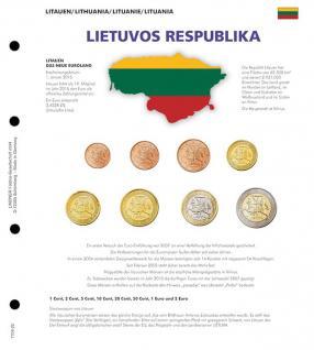1 x Lindner 1109-22 Karat Vordruckblatt EURO Litauen Kursmünzensätze KMS