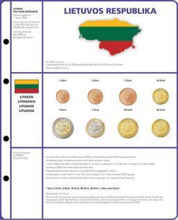 1 x Lindner 8450-22 Vordruckblatt + Münzblatt 3 KMS Litauen Kursmünzensätze EURO COLLECTION