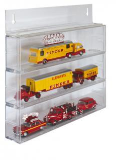 LINDNER 4812 Set 3x Sammelvitrinen Box Setzkasten + 1x Wandhalterung für Werbetrucks Modellautos