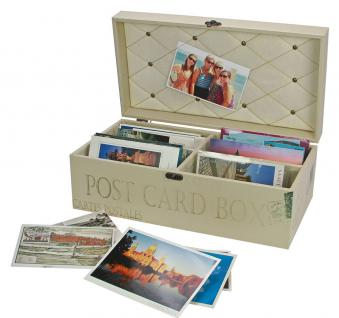 """SAFE 164 Ansichtskarten Postkarten Box Schatulle """" Retro """" für bis zu 600 Postkarten auch in Hüllen"""