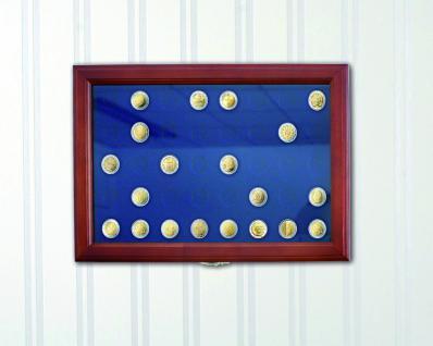"""3x SAFE 5849 Echt Holz Münzvitrinen Vitrinen 81x 5 DM Für die komplett Ausgabe der Kursmünzen """" Heiermann """" 1951 - 1974 in Münzkapseln - Vorschau 4"""