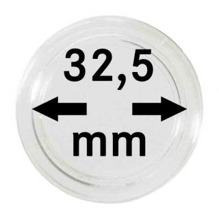 10 LINDNER MÜNZKAPSELN 10 & 20 EURO PP / Münzenkapseln Capsules 32, 5 mm CAPS OHNE RAND / Randlos