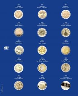 1 x SAFE 7822-13 TOPset Münzblätter Ergänzungsblätter Münzhüllen Münzblatt mit farbigem Vordruckblatt für 2 Euromünzen Gedenkmünzen 2014 - 2015