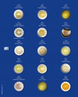 1 x SAFE 7822-15 TOPset Münzblätter Ergänzungsblätter Münzhüllen Münzblatt mit farbigem Vordruckblatt für 2 Euromünzen Gedenkmünzen - 2015