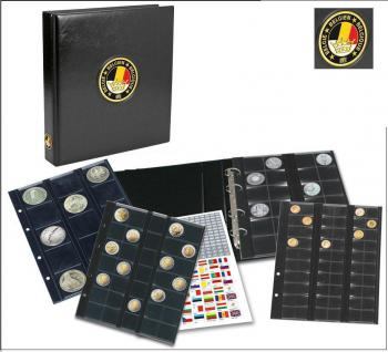 SAFE 7354 PREMIUM MÜNZALBUM BELGIEN UNIVERSAL mit 4 Münzblättern für 134 Münzen