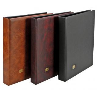SAFE 525-1 Weinrot - Rot Universal Album Ringbinder + 10 Hüllen - 1 Tasche 152 x 225 mm Für DIN A5 & ETB's Ersttagsbriefe - gr. Briefe - Banknoten - Vorschau 3