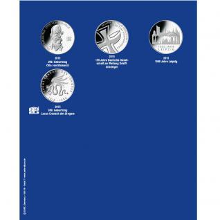 1 x SAFE 7311-7 TOPset Erganzungsblatt Münzblätter + Vordruckblatt Deutsche 10 Euromünzen 2014 - 2015