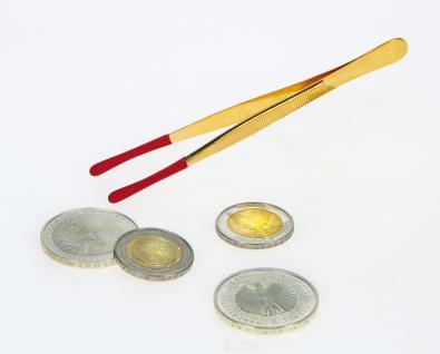 SAFE 1841 Münzenpinzette Münzpinzette vergoldet, gummiert u. abgerundet 12 cm lang