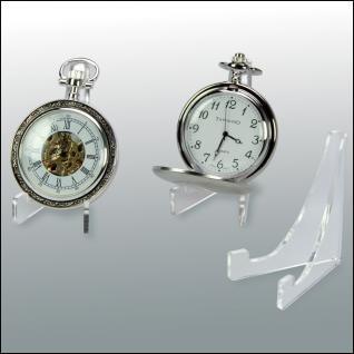 3 x SAFE 5270 ACRYL Dreieck Deko Aufsteller H 60 x L 50 mm für Taschenuhren in Sammelvitrinen Kleinvitrinen