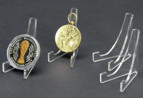 3 x SAFE 5271 ACRYL Dreieck Deko Aufsteller H 80 x L 65 mm für Münzen in Sammelvitrinen Kleinvitrinen - Vorschau 1