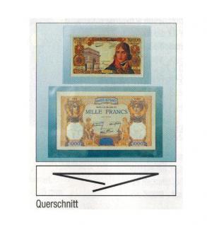 "100 x SAFE 1290-XL Banknotenhüllen Klapp Hüllen Karten "" Special "" Banknoten glasklar 270 x 157 mm"