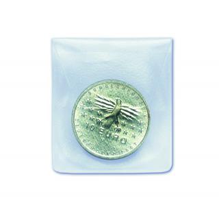 100 x SAFE 1302 Grosse Münzhüllen Münztaschen Münzenhüllen glasklar mit Klappe 65 x 65 mm