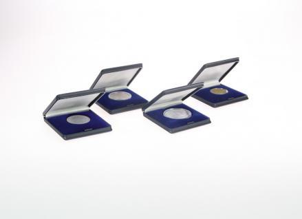 SAFE 7937 Dunkelblaue Hartschalen Etuis Münzetui bis 40 mm Für Münzen & Medaillen & Geocoins & TBs Travel Bugs & Geocaching