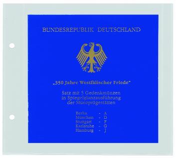 1 x SAFE 7386 Coin Compact Ergänzungsblatt Münzhülle Hülle 1 Fach 155 x 155 mm für quadratische Münzensets zb. Euro