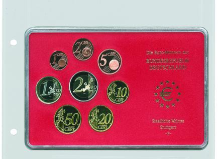 1 x SAFE 7387 Coin Compact Ergänzungsblatt Münzhülle Hülle 1 Fach 170 x 130 mm für rechteckige Münzensets zb. Euro