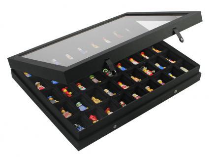 SAFE 5677 Black Edition Sammelvitrinen Vitrinen Setzkasten mit 45 Fächern bis 49 mm Höhe Ideal für LEGO Minifiguren Star Wars - Hobbit - Classic - Princess - Piraten - Speed usw. - Vorschau 2