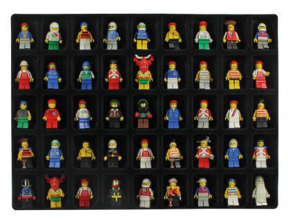 SAFE 5677 Black Edition Sammelvitrinen Vitrinen Setzkasten mit 45 Fächern bis 49 mm Höhe Ideal für LEGO Minifiguren Star Wars - Hobbit - Classic - Princess - Piraten - Speed usw. - Vorschau 3