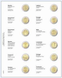 1 x LINDNER MU2E14 Multi Collect Münzblätter Münzhüllen Vordruckblatt 2 Euro Gedenkmünzen Italien Dezember 2014 - Juli 2015
