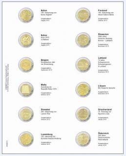 1 x LINDNER MU2E15 Multi Collect Münzblätter Münzhüllen Vordruckblatt 2 Euro Gedenkmünzen August 2015 - Januar / Österreich 2016