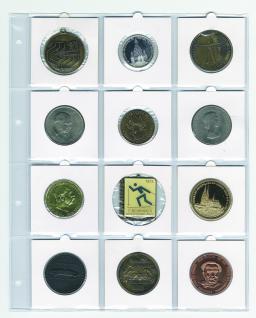 5 x SAFE 434 Compact A4 Münzhüllen Ergänzungsblätter Hüllen Für 12 x große Münzrähmchen 67 x 67 mm